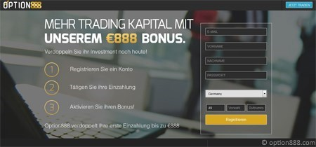 Option888 binäre Optionen Broker Erfahrungen